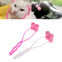 Rose Red/White Cat Massage Tool Pets Slim Face Legs Roller Relief Silicone For Puppy Kitten Dog(China)