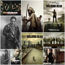 The Walking Dead anime TV Vintage Retro Matte Kraft Paper Antique Poster Wall Sticker Home Decora part 2(China)
