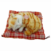 Kawaii Simulation Sounding Animal Dolls Home Decoration Soft Plush Stuffed Sleeping Cats Kids Toys for Children Birthday Gifts