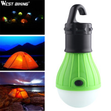 WEST BIKING Soft Light Outdoor Hanging LED Camping Tent Light Bulb Fishing Lantern Hanging Lamp Camping Lights Outdoor Tools