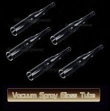 5 PCS Round Ventouse Glass Tube Attachment For Use With Vacuum Spray Facial Mchine