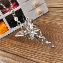 Arwen Evenstar Pendent Movie Jewelry Crystal Twilight Star Silver Pendent Torque women fashion jewelry(China)