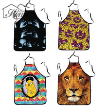 Novelty Apron Cooking Kitchen Cute Print Cool Apron Baking Present Pinafore Chef Funny Aprons For Women Men DIY