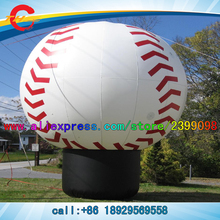 giant inflatable baseball ground balloon,large inflatable volleyball air balloon