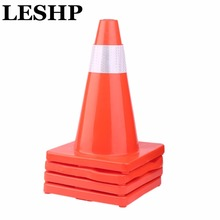 LESHP 4Pcs Folding Reflective Safety Cones PVC Road Cone Road Traffic Pop Up Parking Road Traffic Safety Sign Multi Purpose