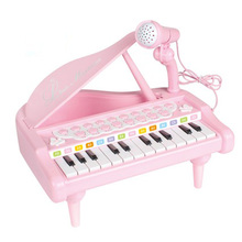 Mini Black Pink Keyboard Musical Instruments Toy Piano With Microphone Electronic Learning Education Fun Toys For Children