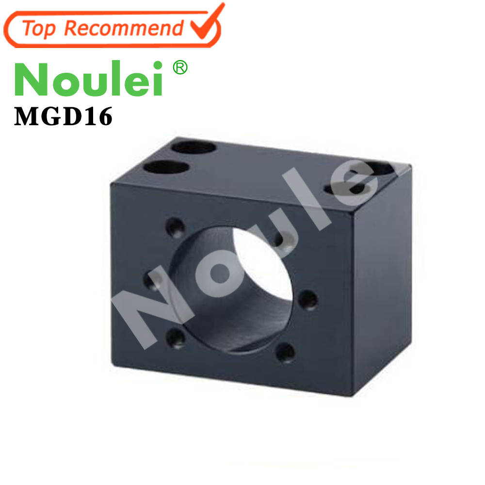 Noulei MGD16 ball screw nut housing ballnut Bracket MGD Black<br>