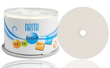 Wholesale DVD+R 8.5GB dual layer D9 8X 240min 50pcs/lot free shipping(China)