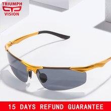 TRIUMPH VISÃO Polarizada Motorista Óculos de Sol para homens óculos de  Condução de Alumínio E Magnésio Polaroid Óculos De Sol Do. a87774787f