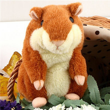 New Hot Lovely Talking Hamster Plush Toy Hot Cute Speak Talking Sound Record Hamster Toy Animal Free Shipping Wholesale(China)