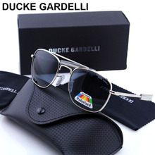 DUCKE GARDELLI Flyer Men Air force military Metal Polarized 57 mm 52 mm army optical SUNGLASSES Gafas de sol lunettes with box(China)