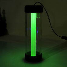 180mm LED colorful water tank water cooling cooler Frosted acrylic light pipe pastel green colorful gradient G1/4