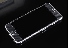 Luxury Mobile Phone Stickers For iPhone6/6s Front+Back Full Body Decal Carbon Fiber Screen Protector Case For iPhone6/6s plus(China)