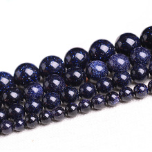 4-12mm Natural Galaxy Stars Blue Sand beads Sun Sitara Loose Beads fashion jewelry making