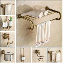 Free shipping, brass Bathroom Accessories Set,Robe hook,Paper Holder,Towel Bar,Soap basket,towel rack,towel ring bathroom sets