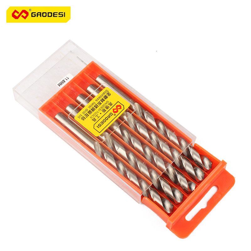 5 PCS Manual Power Tools Twist Drill Bits Sets With Titanium Coated Surface 11.5 Mm Drilling Metal Woodworking Machinery Parts<br><br>Aliexpress