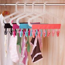 plastic Portable Bathrooms Cloth Hanger Rack Clothespin BusinessTravel Portable Folding Cloth Hanger Clips #15