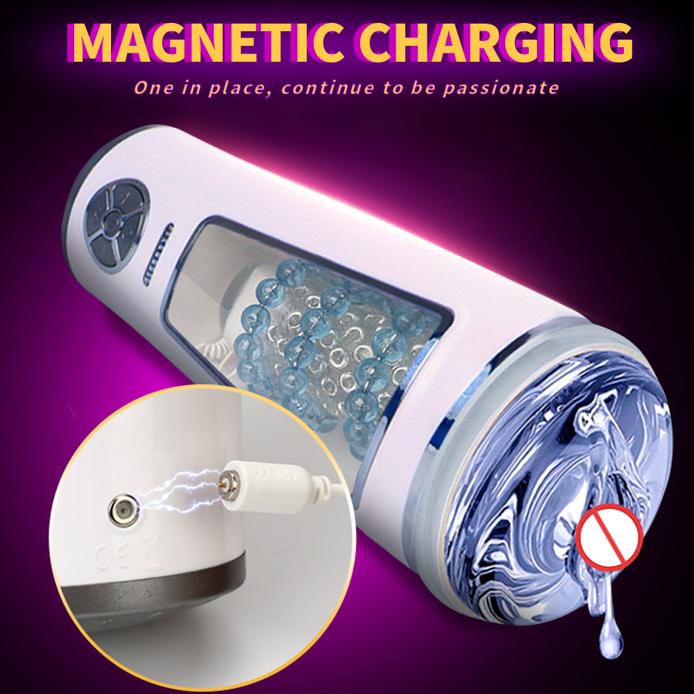 Automatic Masturbator For Man Hand Free Aircraft Cup Vibrator Real Vagina Male Masturbation Silicone Pussy Sex Toy For Men 6