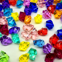 5Pcs/Lot Irregular Acrylic Crystal Stone Plastic Crystal Stone Plastic Color Stone Ice Cube Stone Home Decoration Craft Supplies(China)