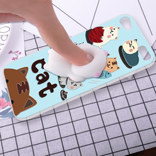 ShuiCaoRen Silicone Case For Apple iPod Touch 6 phone shell Relax Cat 3D Squishy Pinch Cover Fundas For itouch 6