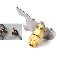 1 Set Outdoor Hiking Camping Stove/Burner Furnace Converter Connector Gas Tank Adapter(China)