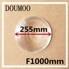 long Focal length 1000mm Fresnel lens Diameter 255 mm Round Fresnel Lens thickness 2mm circle lens for DIY Free shipping(China)