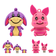 pen drive winnie animal USB Flash Drive Memory Stick/thumb 4gb 8g 16g 32g 64g donkey tiger pig Pendrive U Disk external storage