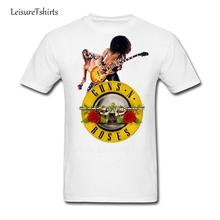 Guns N Roses Dad Wheel Image T Shirt Men Cool Latest Unique Tees Design Class Loose T-Shirts Man Summer O Neck Black Tops