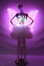 Christmas/Stage /DJ Butterfly light wings catwalk stage costumes light wings stage LED color changeable