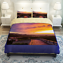 China Landscape Scenery Great Wall 3D Bedding Set Quilt Cover Bed Sheets Twin Queen King Size Soft Polyester Fabric Home Textile(China)