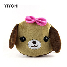 YIYOHI 11cm*10cm Cartoon Cute Style Dog/Pig Zipper Plush Coin Purse Kawaii Children Coin Purse Women Wallets Mini Change Pouch(China)