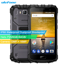 Ulefone Armor 2 Triple Proofing 6GB/64GB IP68 Waterproof Fingerprint Identification 5.0'' Android 7.0 MTK Helio P25 Octa Core(China)
