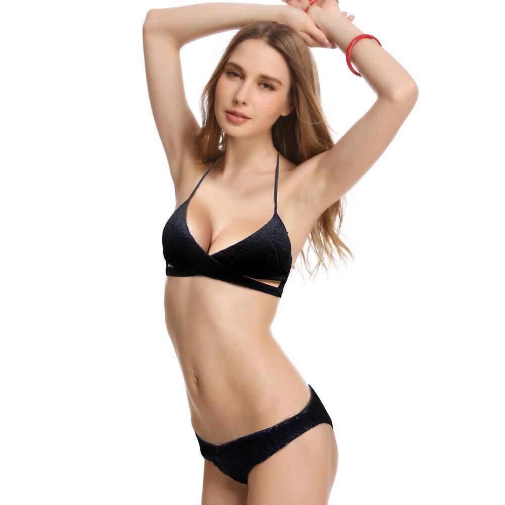 Free Shipping 2016 New HIGH Quality Secret lady lace MESH Swimsuit Women Bikinis Set Vintage X-cutout Swimwear white Wire Free<br>