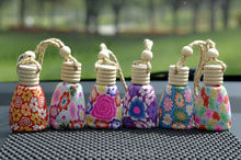 10ML30pcs/lot Chinese Style Empty Fimo Perfume Bottle,Creative Little Gifts,Aromatherapy Car Hang Decoration, Essence Oil Bottle(China)