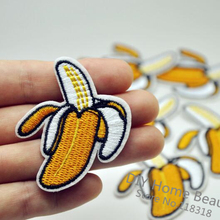 1 PCS Fruit Banana Embroidered Iron on Patches for Clothing DIY Apparel Accessories Garment Stickers Appliques 4.9*5.2 CM @JJ9