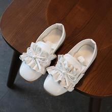 Princess Girls Shoes PU Leather Bow-knot For Kids Children Casual Flats School Shoes For Girls For Party Wedding(China)