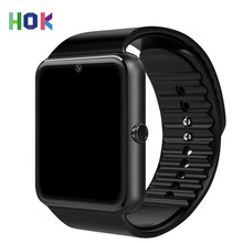 HOK Android Smart Watch Phone Gt08 Bluetooth Watch With Sim TF Card Camera For Iphone Android Support Russia Whatsapp Facebook(China)
