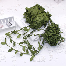 4m eters of silk artificial leaves Teng festive wedding decoration DIY gift decorative gift wreath collage scrapbook Flores