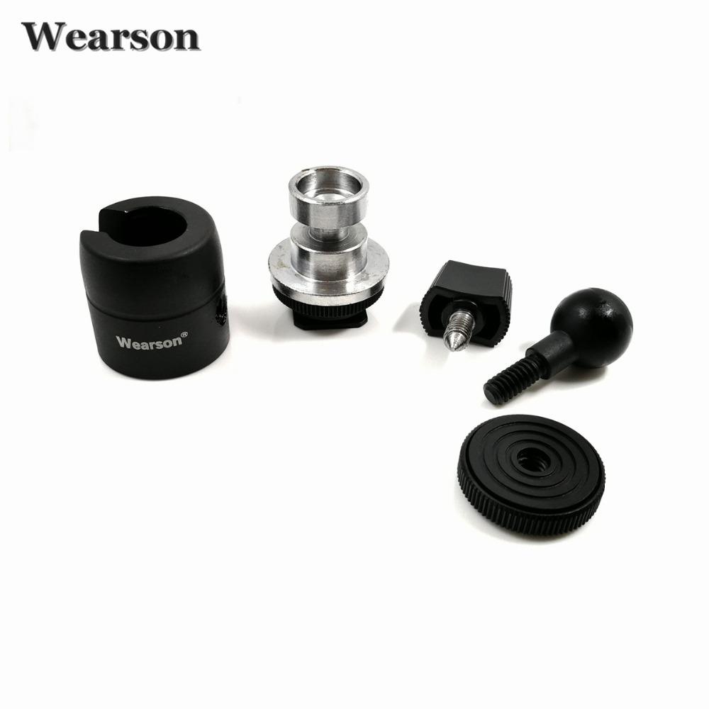 Wearson Camera Ball Head Hot Shoe Mount 360 Degree 14 38 Screw For Canon Nikon DSLR Camera Tripod AdapterLCD Video Monitor (6)