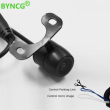 BYNCG Waterproof CCD Car Vehicle Rearview Front Side View Backup Reversing Camera with or without Mirror Image Convert Line(China)