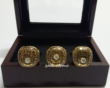 2016 Hot Sale 3pcs/Set 1973 1978 1979 Alabama Crimson Tide Championship Rings Replica With Wooden Display Box Drop Shipping