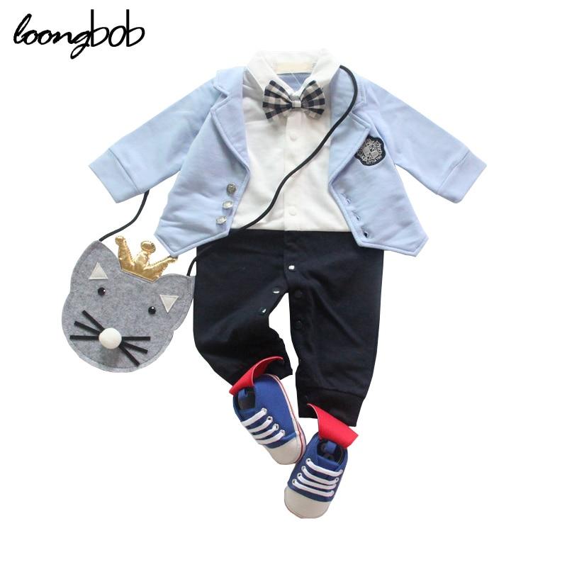 New Baby Romper Long Sleeve One-piece Boys Jumpsuit Wedding Party Formal Infant Suit Newborn Gentlemen Clothes<br><br>Aliexpress