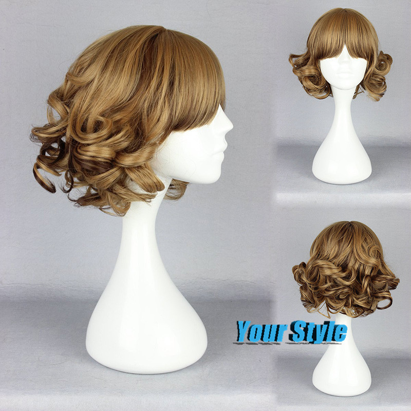 Japanese Harajuku Lolita Wig  Short Blonde Wavy Wigs 30cm Synthetic Japanese Fiber  Peruca Cosplay Perruque Synthetic Women<br><br>Aliexpress