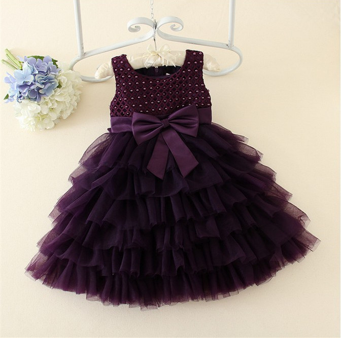 Real Photos Lace Bow Flower Girl Dresses For Weddings Sleeveless Kids Prom Dresses Ball Gown Pearls Dress Girl AD-1648<br>