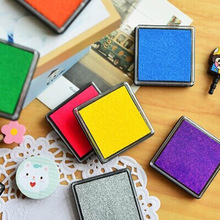 DIY Mini Cute Kawaii Plastic Colorful Ink Pad Inkpad Stamp Pad for Scrapbook Home Decoration Korean Stationery Free shipping 616