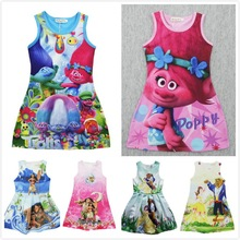 Trolls Children Dress Clothing Summer Dresses Girls Baby Pajamas Costume goods Princess Nightgown Vestidos Infantis Clothes