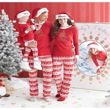 Family Matching Pjs Outfits Christmas Pajamas Autumn 2017 New Xmas Mother Daughter Father Son Toddler Pajamas Family Clothes Set(China)