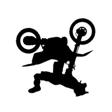 Motion Somersault Freestyle Motocross Bumper Sticker Cartoon Cool Sports Motorcycle Stickers CT-852(China)