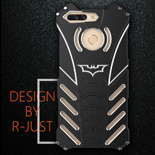 V9 R-Just Batman Mobile Phone case Aluminum Metal Armor cover for Huawei Honor V9 with R Just Medal Holder bracket