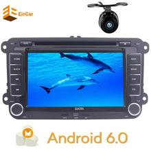 Rear camera+Android 6.0 Double Din 7'' Car stereo DVD Player GPS Radio Bluetooth USB SD FM AM RDS 1080p video Optional DVR OBD2